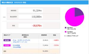 SBI証券 資産状況のスクリーンショット