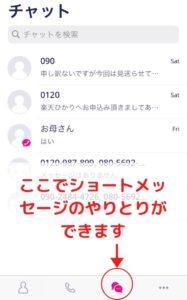 楽天アンリミット iPhone SMS