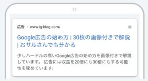 Google広告 公開イメージ