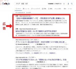 Google 検索結果画面